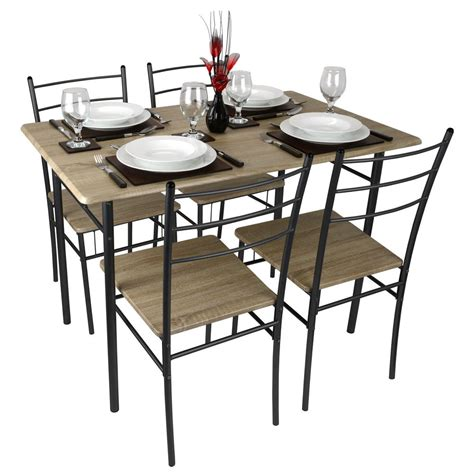 restaurant kitchen furniture cecilia 5 modern dining table and chairs set
