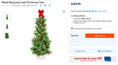 walmart stopped selling its marijuana christmas tree