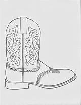 Cowboy Boot Coloring Cowgirl Pages Sketch Boots Western Dancing Sketches Clipart Paintingvalley Collection sketch template