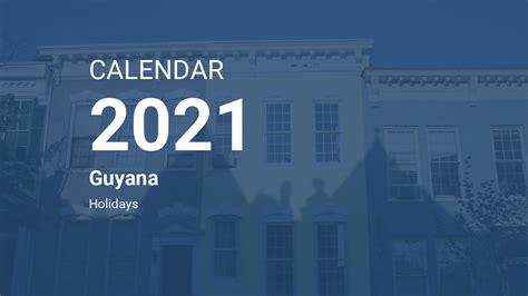 year  calendar guyana
