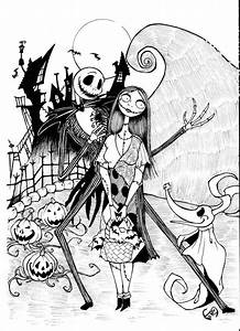 Nightmare Before Christmas Coloring Page - Coloring Home