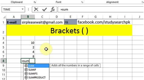 excel bracket lesson 97 brackets in formula microsoft office excel