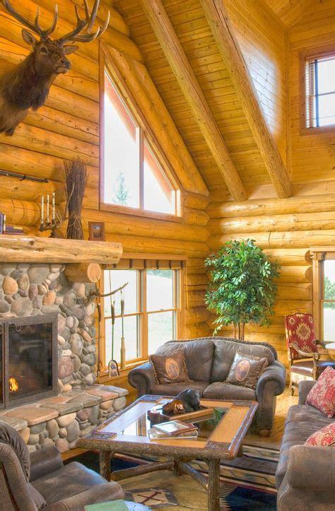 traditional style log cabin  montana home design garden architecture blog magazine