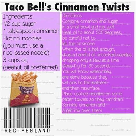 taco cinnamon bell twists twist