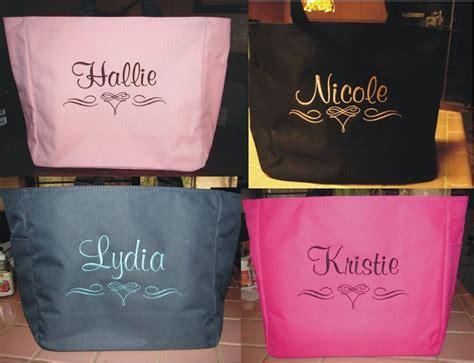wedding tote bag personalized bridesmaid scroll bridal shower cheap gift ebay