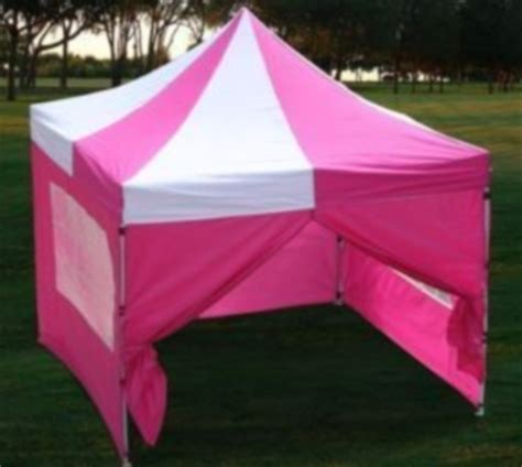pink white easy pop  canopy tent