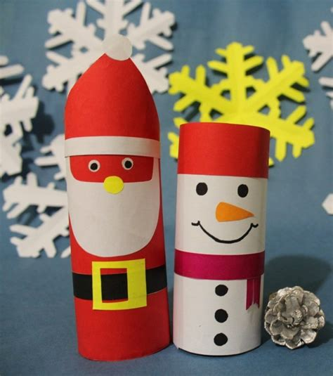 basteln mit klorollen zu weihnachten  einfache