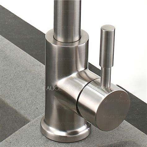 high  stretch stainless steel brushed nickel kitchen