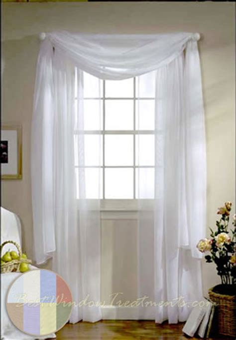 turtle bay voile curtain panel   white ivory