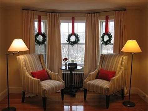 christmas window ideas for bay window bay window idea inset curtains for the home juxtapost