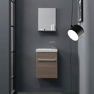 petit meuble de salle de bains pour espaces reduits With meuble de salle de bain pour petit espace