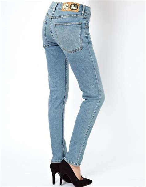 Cheap Monday Light Wash Tight Skinny Jeans In Blue