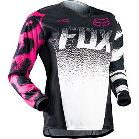 female motocross gear fox racing women s 180 jersey large black pink