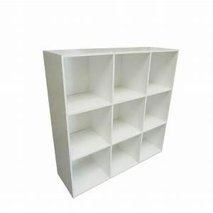 Etagere 6 Cases : etag re 9 cases multikaz blanc x x cm leroy merlin ~ Teatrodelosmanantiales.com Idées de Décoration