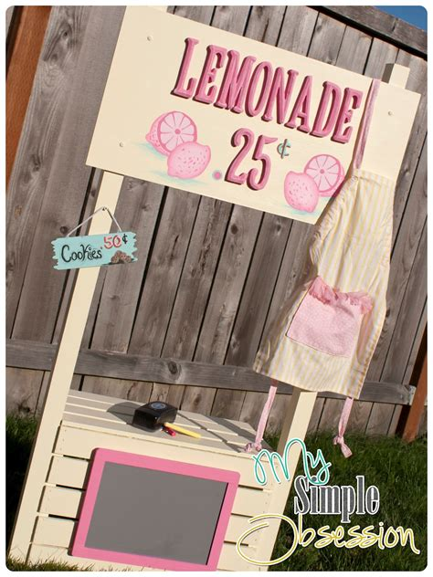 simple obsession easy diy lemonade stand