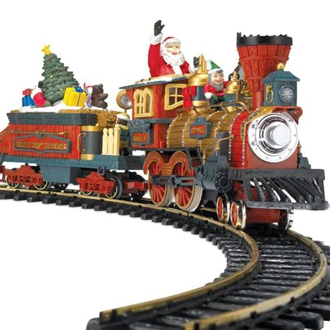 toy train going around top of a tree best set for tree a listly list