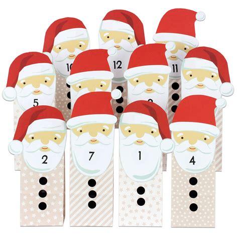 weihnachtsmann selber basteln adventskalender weihnachtsmann mit beigen t 252 ten zum aufkleben papierdrachen