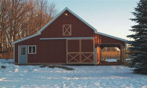 Barn Homes Designs, Open Floor Plans Small Home Small Pole