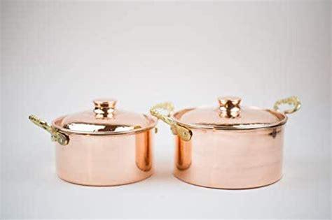 amazoncom thick copper cooker stewpot saucepan set    pot lids handmade
