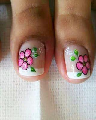 Uñas decoradas para pie principiantes fácil de hacer paso a paso/decoración de uñas pies en negro. Imagenes De Flores En Las Uñas De Los Pies - Imágenes De Flores