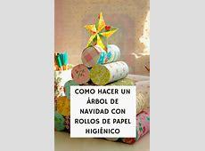 Cómo hacer un árbol de navidad con rollos de papel higiénico