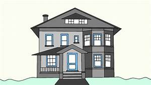 How to draw a house step by step for beginners - YouTube