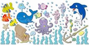 Wandtattoo Unterwasserwelt Kinderzimmer : 96 wandsticker wandtattoo unterwasserwelt fische delfin kinderzimmer babyzimmer ebay ~ Sanjose-hotels-ca.com Haus und Dekorationen