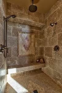 beautiful travertin pour salle de bain gallery awesome With salle de bain design avec plaque décorative métal