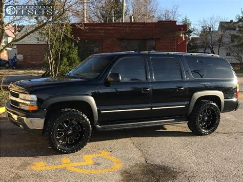 leveling kitstock wheelsoversized tires pics chevy 2001 chevrolet suburban 1500 xd buck 25 pro comp leveling