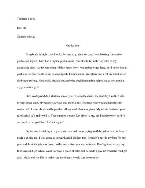 personal experience narrative essay