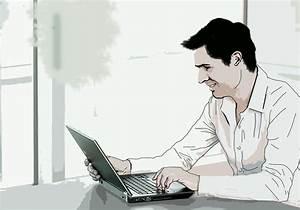 Business Man PSD Cartoon