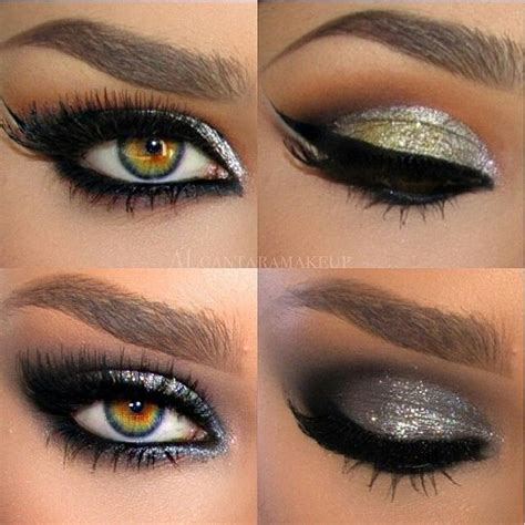 unique eye colors beautiful metallic shadow and liner with unique eye color