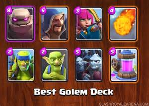 Royale Best Clash Golem Deck