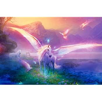 Amazon.com: Mythical Lavender Mist Unicorn Sue Dawe