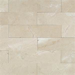 shop 9 pcs sq ft crema marfil 2x8 brushed stone tile at