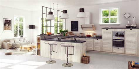 creer une cuisine dans un petit espace une cuisine équipée ouverte sur le salon