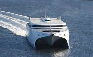Largest Catamaran Ferry largest ever freight carrying catamaran to launch on cross