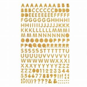 hobbycraft gold glitter letter and number stickers With gold letter stickers