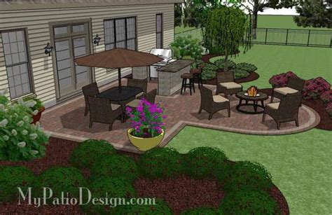 Creative Backyard Patio Design With Grill Station-bar