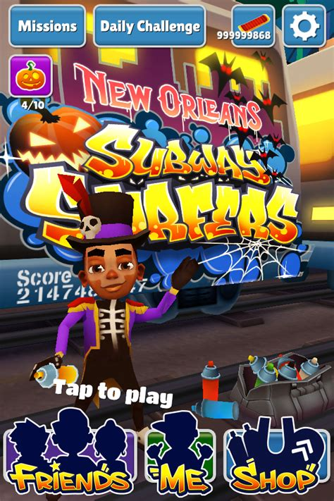Subway Surfers Halloween Download by Subway Surfers New Orleans Hack With Unlimited Coins And