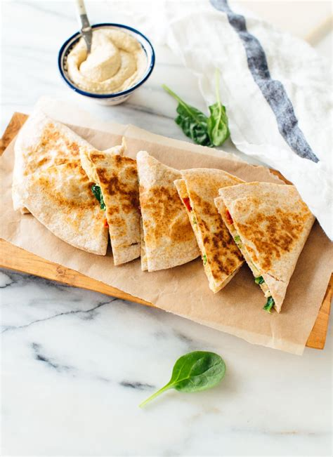 pack cuisine hummus quesadillas recipe cookie and kate