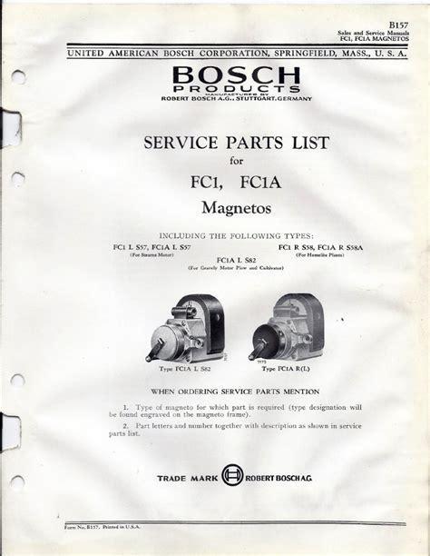 Fairbanks Morse Magneto Parts List