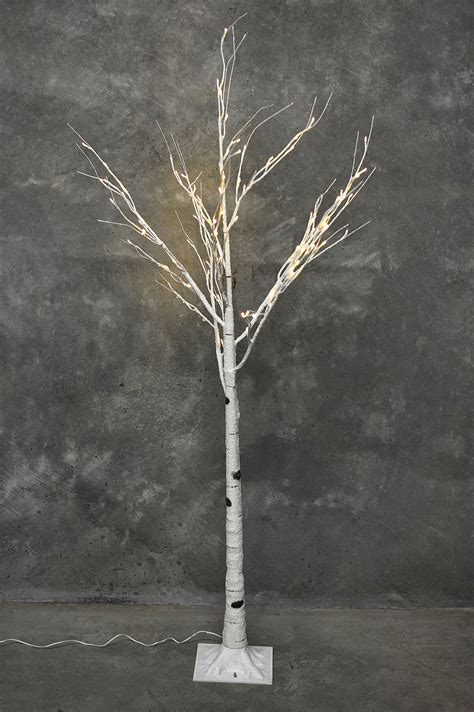 6ft white led tree 6 ft led birch tree warm white