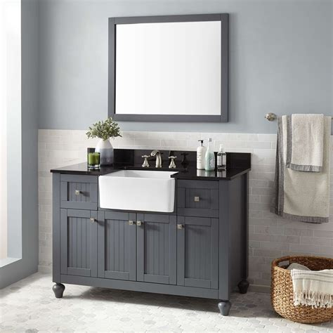 modern faucets for kitchen 48 quot nellie farmhouse sink vanity gray bathroom