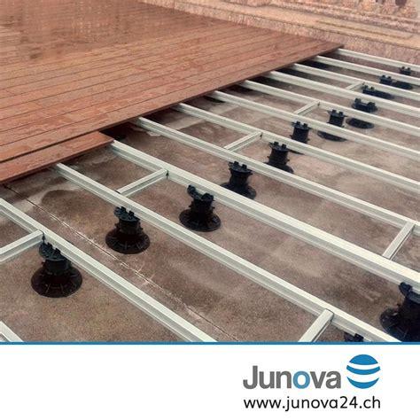 terrassen unterkonstruktion abstand alu unterkonstruktion f 252 r wpc oder holz terrassen junova 24