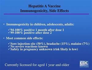 PPT - Epidemiol... Hepatitis A Vaccine