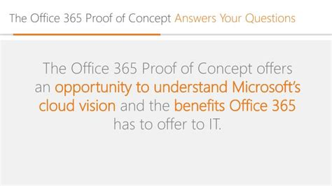 Office 365 Questions by Ppt Proof Of Concept Powerpoint Presentation Id 1632987