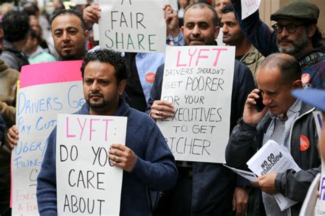 Lyft And Uber Drivers In S.f, L.a. Stage One-day Strike In