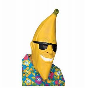 Banana Man Mask - Adult Costumes