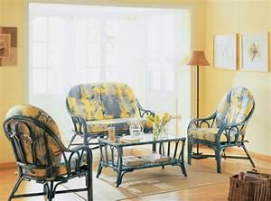 Salon En Rotin : table basse de salon en rotin brin d 39 ouest ~ Teatrodelosmanantiales.com Idées de Décoration